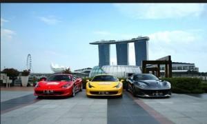 mobil ferari di singapore